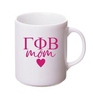 Gamma Phi Beta White Personalized Coffee Mug
