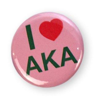 I Love AKA Sorority Button