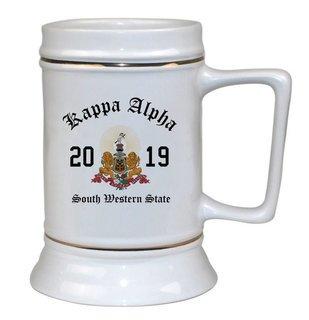 Kappa Alpha Ceramic Crest & Year Ceramic Stein Tankard - 28 ozs!