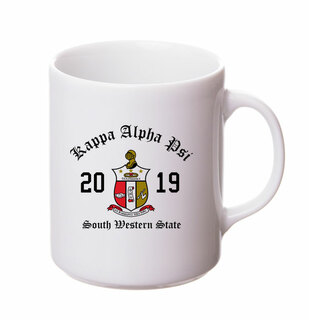 Kappa Alpha Psi Crest & Year Ceramic Mug