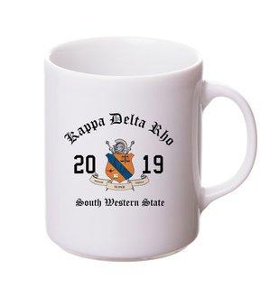Kappa Delta Rho Crest & Year Ceramic Mug