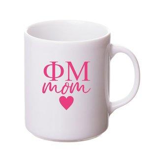 Phi Mu White Personalized Coffee Mug