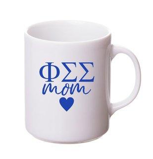 Phi Sigma Sigma White Personalized Coffee Mug