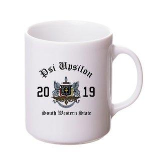 Psi Upsilon Crest & Year Ceramic Mug