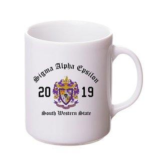 Sigma Alpha Epsilon Crest & Year Ceramic Mug