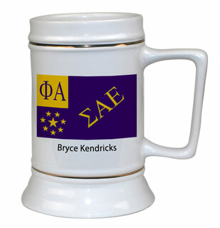 Sigma Alpha Epsilon Flag Ceramic Stein