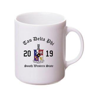 Tau Delta Phi Crest & Year Ceramic Mug
