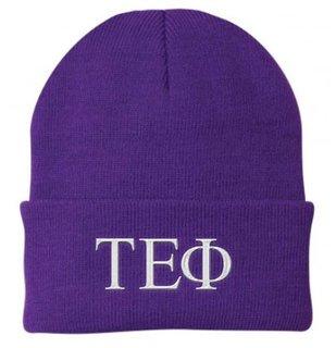 Tau Epsilon Phi Greek Letter Knit Cap