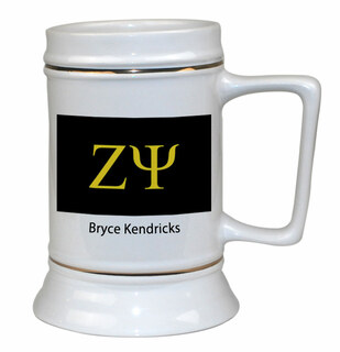 Zeta Psi Flag Ceramic Stein