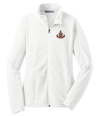 DISCOUNT-Alpha Chi Omega Crest - Shield Patch Ladies Microfleece Jacket