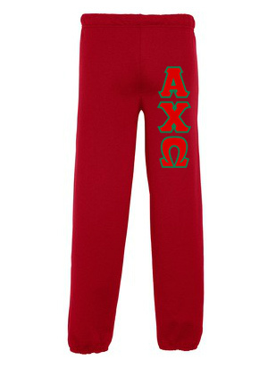 Alpha Chi Omega Lettered Sweatpants