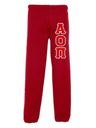 Alpha Omicron Pi Lettered Sweatpants
