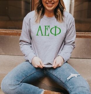 Alpha Epsilon Phi University Greek Crewneck
