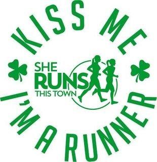 Kiss Me I'm A Runner Decal - SHE RUNS