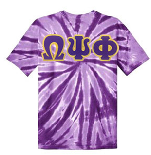 DISCOUNT-Omega Psi Phi Essential Tie-Dye Lettered Tee