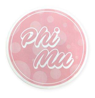 """Phi Mu Bumper Stickers 4"""" Round"""