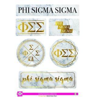Phi Sigma Sigma Marble Sticker Sheet
