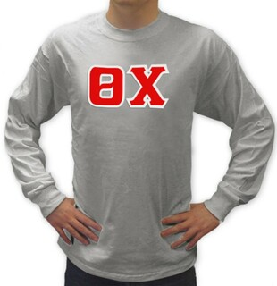 Theta Chi Sewn Lettered Long Tee