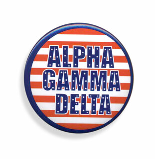 Alpha Gamma Delta Patriotic USA Button