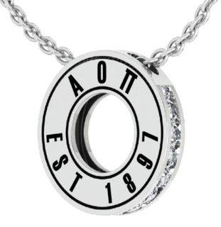 Alpha Omicron Pi Circle Established Charm Necklace - ON SALE!