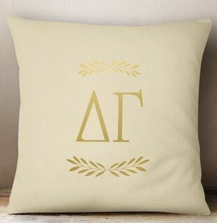 Delta Gamma Foil Letters Pillow