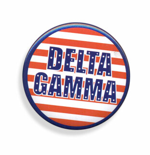 Delta Gamma Patriotic USA Button