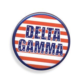 Delta Gamma Patriotic USA Button