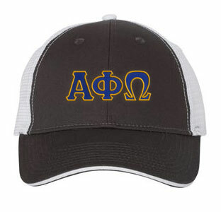 Alpha Phi Omega Double Greek Trucker Cap