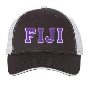 FIJI Fraternity Double Greek Trucker Cap
