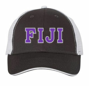 FIJI Fraternity Double Greek Trucker Cap