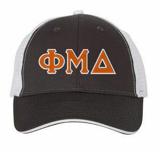 Phi Mu Delta Double Greek Trucker Cap