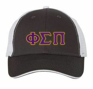 Phi Sigma Pi Double Greek Trucker Cap