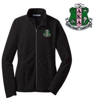 Alpha Kappa Alpha Crest - Shield Patch Ladies Microfleece Jacket