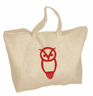 Chi Omega Mascot Zippered Tote Bag