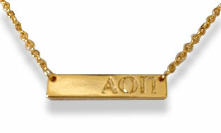 Alpha Omicron Pi Cross Bar Necklace