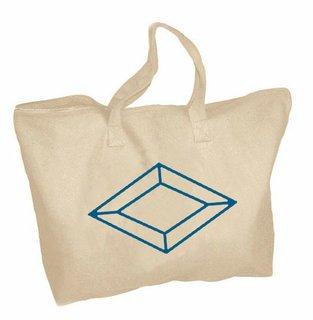 Alpha Delta Pi Mascot Zippered Tote Bag
