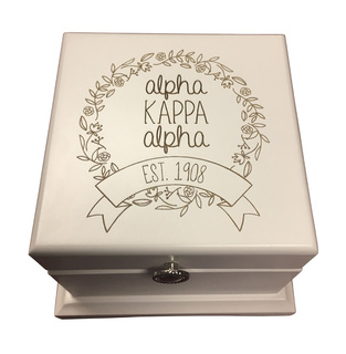 Alpha Kappa Alpha Bianca Wood Box