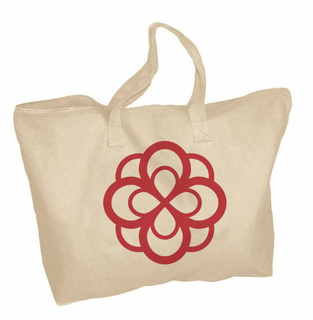 Alpha Omicron Pi Mascot Zippered Tote Bag
