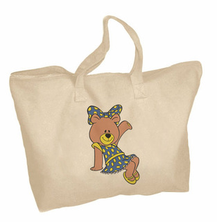 Alpha Xi Delta Mascot Zippered Tote Bag