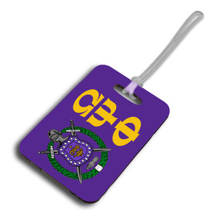 Crest Fraternity/Sorority Luggage Tag