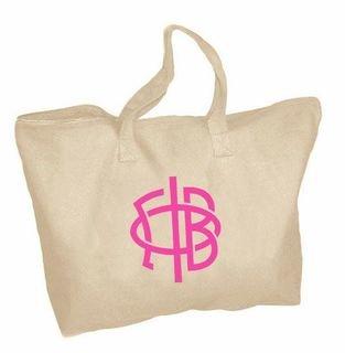 Gamma Phi Beta Mascot Zippered Tote Bag