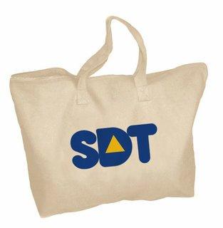 Sigma Delta Tau Mascot Zippered Tote Bag
