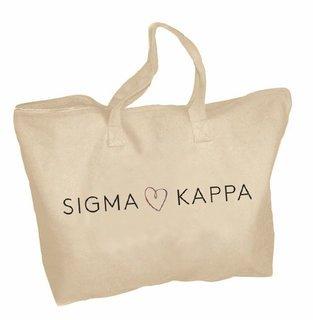 Sigma Kappa Mascot Zippered Tote Bag