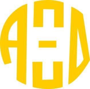 Alpha Xi Delta Monogram Decal