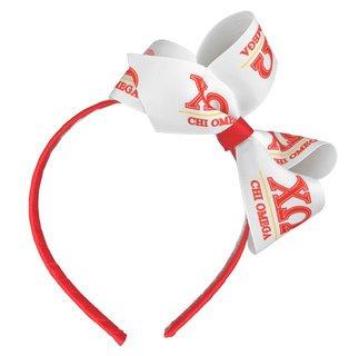 Chi Omega Headband with Bow