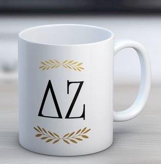 Delta Zeta Letter Coffee Mug