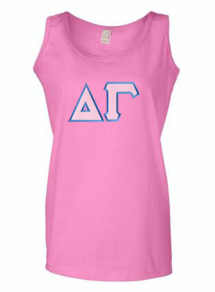 DISCOUNT-Delta Gamma Lettered Ladies Tank Top