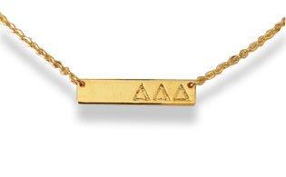 Delta Delta Delta Cross Bar Necklace