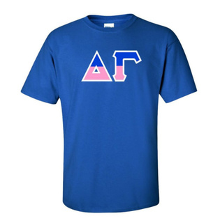 Delta Gamma Two Tone Greek Lettered T-Shirt