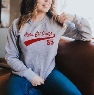 Alpha Chi Omega Tail Crewneck Sweatshirt